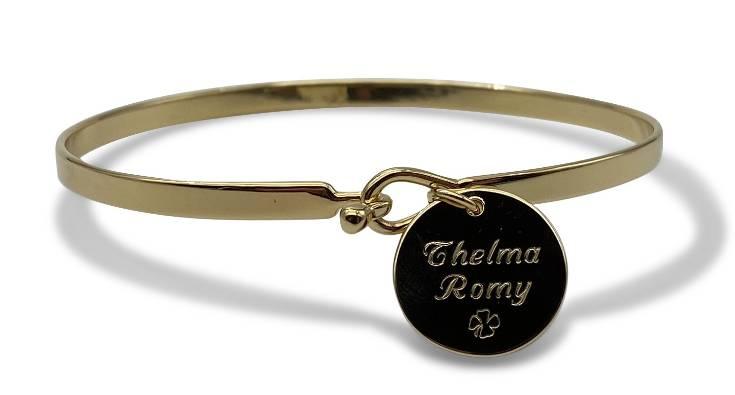 bracelet avec gravure personnalisée